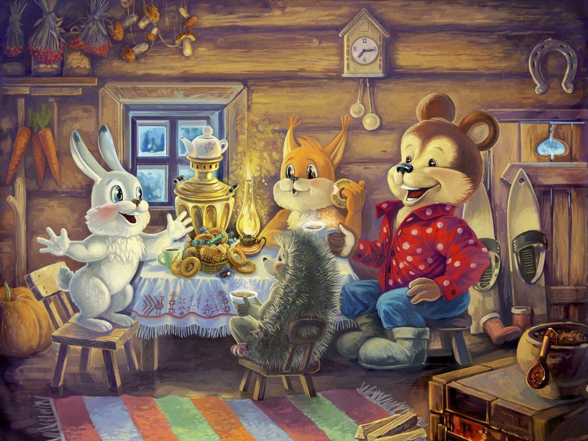 «У зайчонка день рожденье» из рубрики Олюшкины сказки.