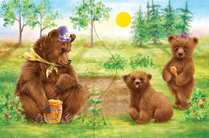 «Медвежонок и мёд»  из рубрики Олюшкины сказки.
